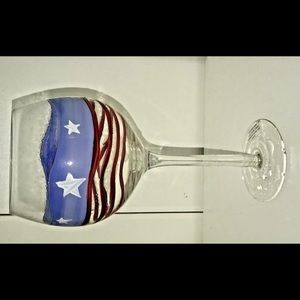 New Americana Hand Painted Wine Glass/Dessert Cup
